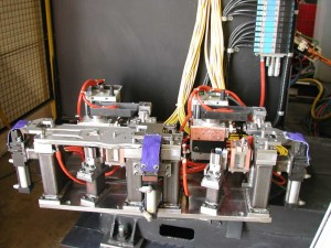 Resistance Welding - Automatic Fixture, mounted on turntable, and using remote I/O valve pack